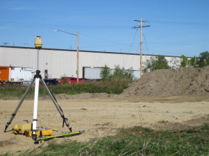 Surveying land at Premold Corp.