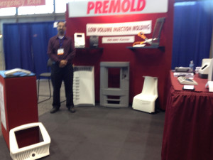 Premold Corp displays Reaction Injection Molded parts